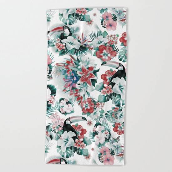 Tropical Forest Beach Towel