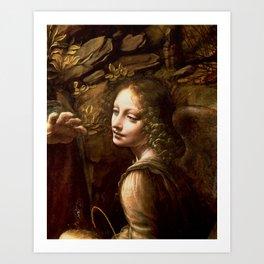 "Leonardo da Vinci Angel in ""The Virgin of the Rocks (London)"" Art Print"