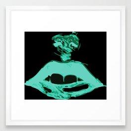 Whisper Lips Framed Art Print