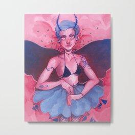 Moth Girl Metal Print