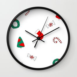 Winter Holiday Themed Illustration Merry Christmas! Wall Clock
