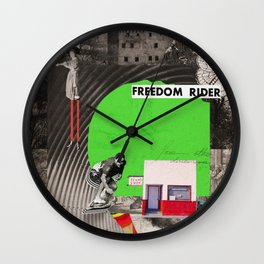 green - surf series Wall Clock