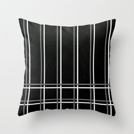 Pinstripes on Scratched Grunge Illustration - Digital Artwork Throw Pillow