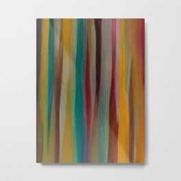 Colorful Acrylic Painting Paths Metal Print