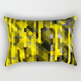 abstract composition in yellow and grays Rectangular Pillow