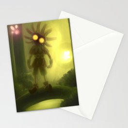 Skull kid in forest Stationery Cards