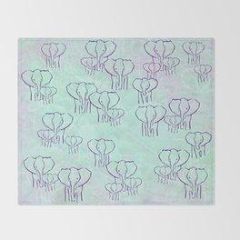 Pastel Elephants Throw Blanket