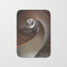 Spiral staircase in an old lighthouse Bath Mat