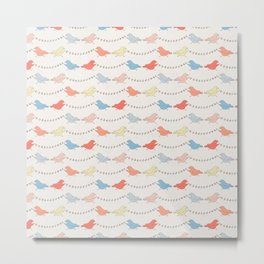 Sweet Birds & Banners Metal Print