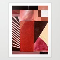 "'Red Fusion"" Art Print"
