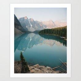 Pastel Sunrise over Moraine Lake Art Print