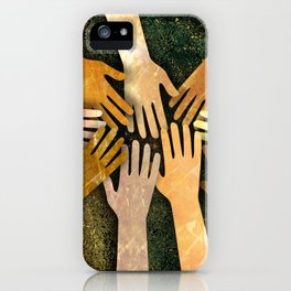 Grunge Community of Hands iPhone Case