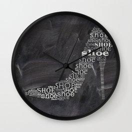 Shoe on chalkboard Wall Clock
