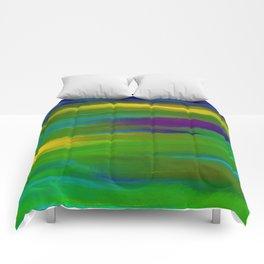 Green Mardi Gras Abstract Comforters