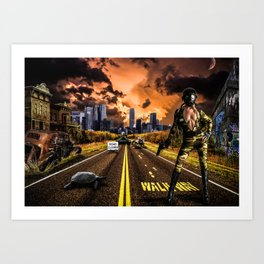 Future Girl in New York Art Print