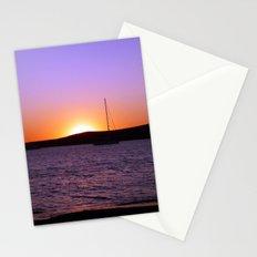 Sunset Sail, Paros Island, Greece Stationery Cards