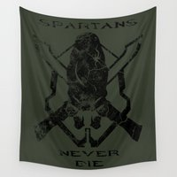 halo Wall Tapestries featuring Spartans Never Die  |  Halo by Canis Picta