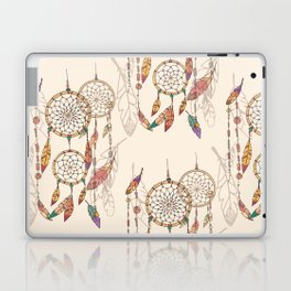 Bohemian dream catcher with beads and feathers Laptop & iPad Skin