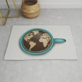 The World in a Coffee Mug Rug