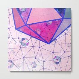 Icosahedron Geometric Shape Constellation Dream Metal Print