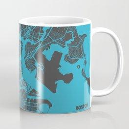 Boston map blue Coffee Mug