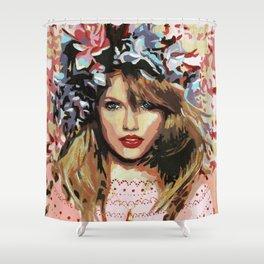 Pink flower girl Shower Curtain