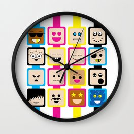 People of all Colors Wall Clock