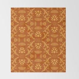 Thistles on Orange Throw Blanket