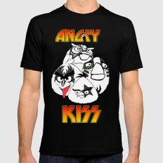 Angry Kiss Mens Fitted Tee Black MEDIUM