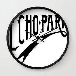 Echo Park Script Wall Clock