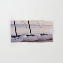 Countdown to the adventure - Sailboats - Caribbean - Fine Art Travel Photograpphy Hand & Bath Towel