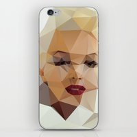 portrait iPhone & iPod Skins featuring Monroe. by David