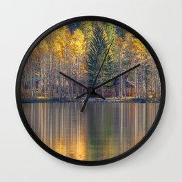 Silver Lake Reflections 2 Wall Clock