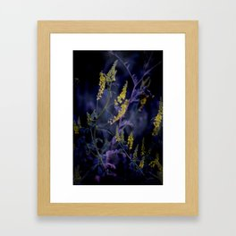 purple and yellow Framed Art Print