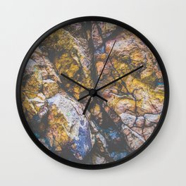 colorful textured rock background Wall Clock