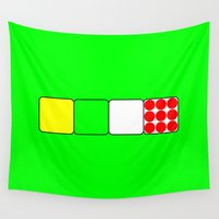 tour de france Wall Tapestries featuring Tour de France Jerseys 2 Green by The Learning Curve Photography