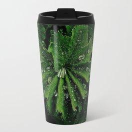 Dew On Rose Scented Geranium Leaves Travel Mug