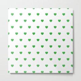 HEARTS ((shamrock on white)) Metal Print
