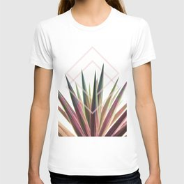Tropical Desire - Foliage and geometry T-shirt