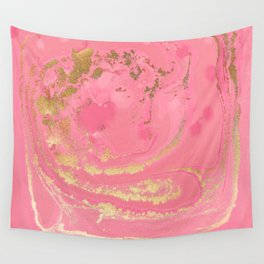 Fluid Rose Gold Wall Tapestry