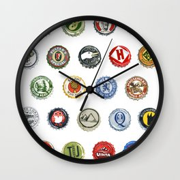 Bottlecaps A to Z Wall Clock