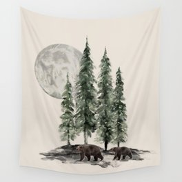 Full Moon Rising Wall Tapestry