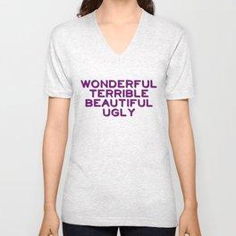 Wonderful-purple Unisex V-Neck