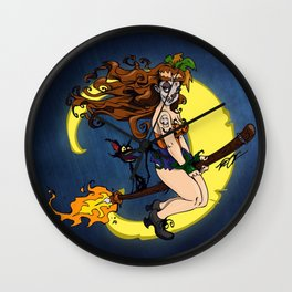 Voodoo Witch Girl Wall Clock