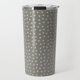 Simple dots suspended in gray Travel Mug
