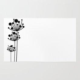 Minimal Floral Rug