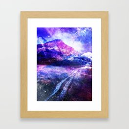 Abstract Mountain Landscape Framed Art Print
