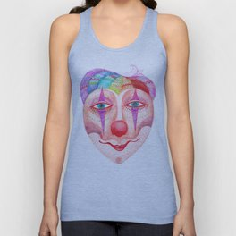 trust the clown mask portrait Unisex Tank Top