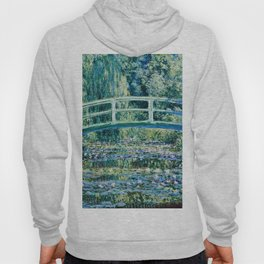 Claude Monet - Water Lilies And Japanese Bridge Hoody