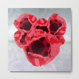 In memoriam - Heart of poppies Metal Print